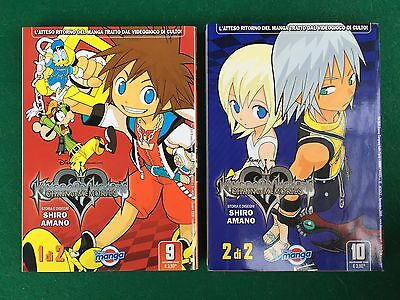 KINGDOM HEARTS CHAIN OF MEMORIES n.1/2 SERIE COMPLETA Manga DISNEY (2008)