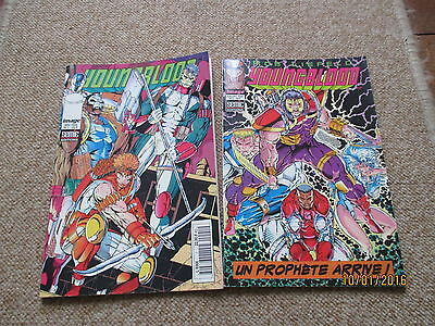 PETIT FORMAT BD COMICS  YOUNGBLOOD lot tome 1 + 2  image semic  1995