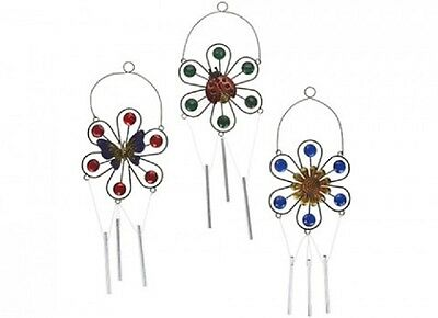 Wholesale-Resellers-24 X FLOWER ANIMAL BEADED WINDCHIME  3 ASSORTED