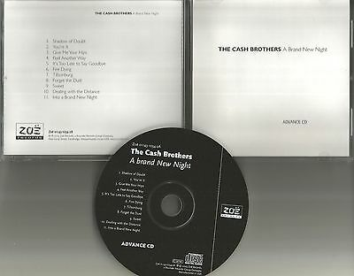 THE CASH BROTHERS A Brand New Night ULTRA RARE ADVNCE PROMO CD USA 2003 MINT