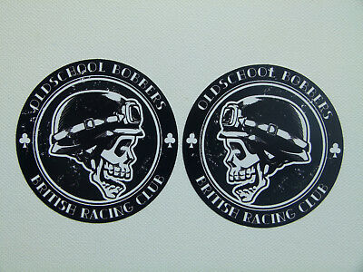 2er British Bobber Oldschool Set Aufkleber Biker Sticker Harley Chopper USA