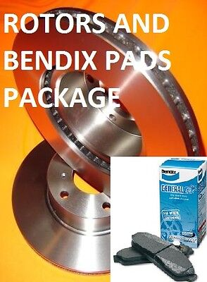 Ford TERRITORY 2WD & 4WD TS TX GHIA SX SY REAR Disc Brake Rotors + BENDIX PADS