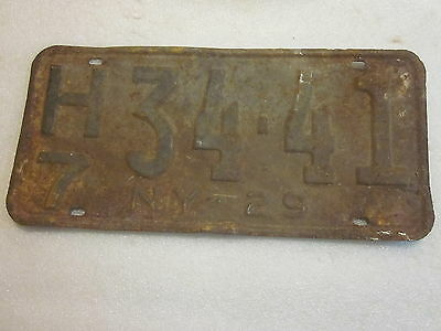 1929 New York State License Plate # H734-41