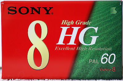 SONY P5-60HG2 8mm VIDEO 8 Blank Tape High Grade 60 minute