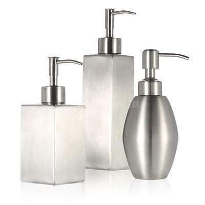 Stainless Steel Soap Liquid Dispenser for Bathroom Kitchen Countertop 3 Type
