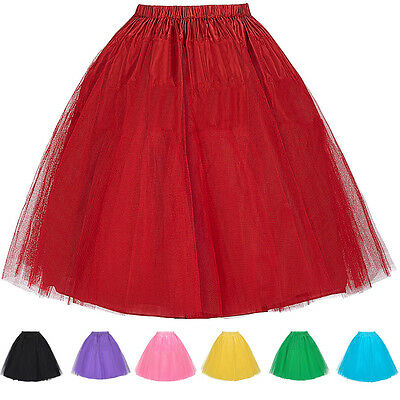Underskirt 50s Swing Vintage Petticoat Net Skirt Long/Short Tutu New