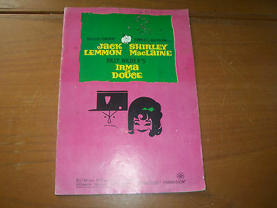 Original Aust Souvenir Motion Picture Movie Booklet Programme Irma La Douce