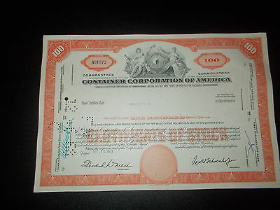 Aktie Stock Container Corporation of America 1963
