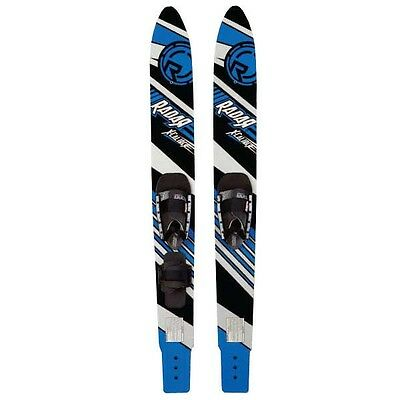 Radar X-Caliber Combo Waterskis 59 inch with Bindings Blue/Black - NEW