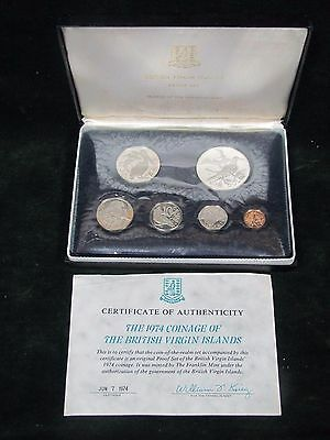 1974 Coinage of the British Virgin Islands Proof Set - 6 Coin Set