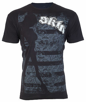 SKIN INDUSTRIES Mens T-Shirt MOSH Motocross Racing BLK Fox Metal Mulisha UFC $30