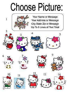 30 Hello Kitty Personalized Address Labels