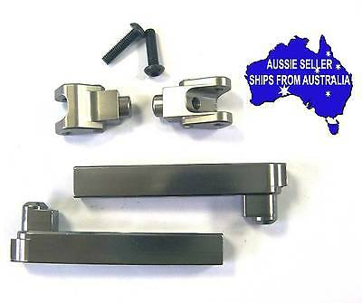 Gunmetal colour alloy anti sway bar arms for Axial Yeti 1:10 RC Truck.