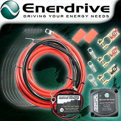 Enerdrive 140 Amp 12 Volt Dual Battery Isolator System Kit En61010 + Projecta