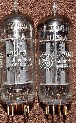 Pair Matched * Nos 7044 /  6N30P / 7119 = 6N30 General Electric Tubes Gold Pins