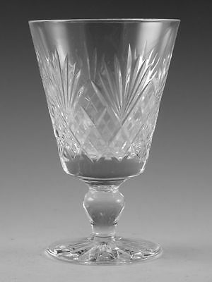 "Royal DOULTON Crystal - JUNO Cut - Wine Glass / Glasses - 4 5/8"" (1st)"