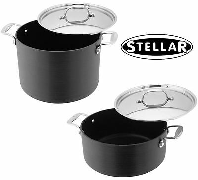 Stellar 6000 Hard Anodised 24cm Casserole Pan or Stockpot S636/S645