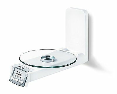 Beurer KS 52 706.10 Design Kitchen Wall Mounted Scales Clock and Timing Function