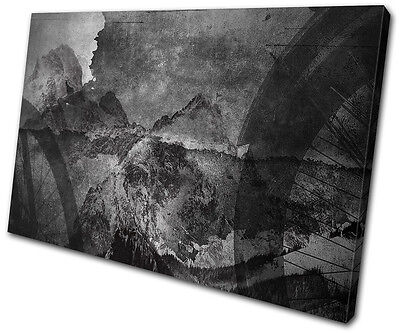 Industrial Cycling Abstract SINGLE CANVAS WALL ART Picture Print