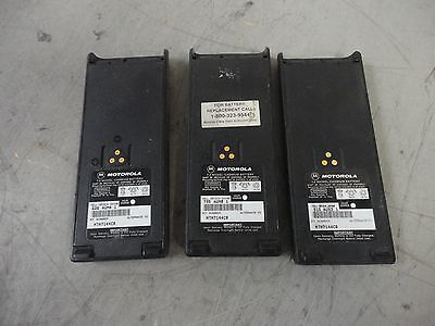 LOT OF 3 MOTOROLA NTN7144CR 7.2V NiCd BATTERIES GP900 GP1200 HT1000