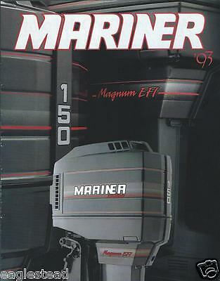 Boat Motor Brochure - Mariner - Product Line Overview - Outboards - 1993 (SH59)