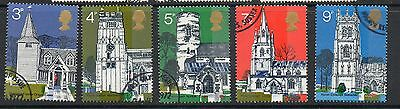 GB 1972 British Architecture 3rd series village churches Fine used set stamps