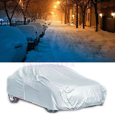 Waterproof Full Car Cover Sun UV Snow Dust Rain Resistant Case Protector Size XL