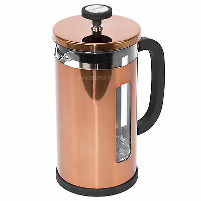La Cafetiere Origins Copper Pisa Stainless Steel French Press Coffee Pot Jug