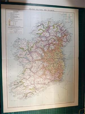Map From Philip's Atlas 1931 - Ireland - Political & Railways ...31-32/31