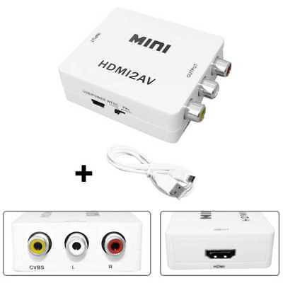 Mini Convertidor de HDMI a AV RCA Analogica de Video Conversor Adaptador Video