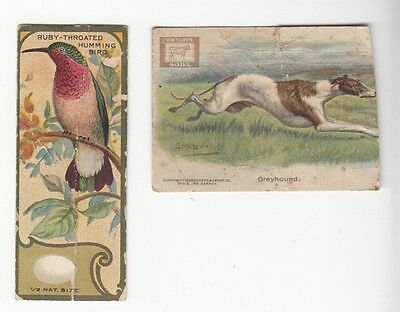 [57825] Lot Of 2 Advertising Cards Dwight's Soda Dog Series / Sen-Sen Chocolate