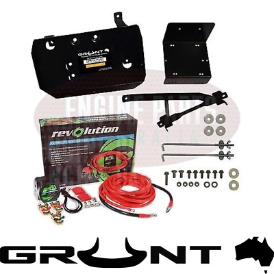 Dual Battery Tray & Wiring Kit Toyota Hilux 2005 - On Petrol & Diesel Kun26