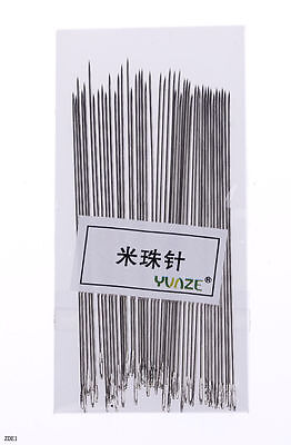 Bulk 0.3mm Dia.55mm Long Beading Needles Threading Wire Craft Jewelry Findings