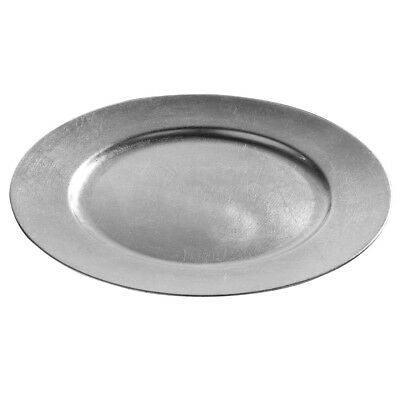 Set Of 8 Silver Pebble Edge Charger Dinner Table Under Plate Wedding Place Mat