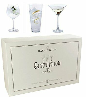 Dartington Gintuition 3 Piece Gin Set Highball Copa Stem & Martini in Gift Box