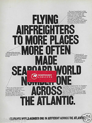 Seaboard World Airlines 1969 Number #1 Across The Atlantic Air Freighters Ad