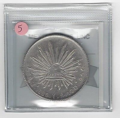 **1886 ZsJS**Mexico, Silver 8 Reales, Coin Mart Graded **UNC** #5