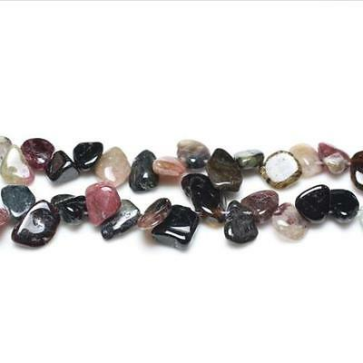 Strand Of 48+ Mixed Tourmaline 8-12mm Drop-Style Chip Beads GS5225