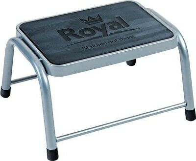 Royal Single Deluxe Non-Slip Step for Caravan Motorhome Home Aid | Steel/Rubber