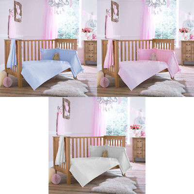 Clair de Lune Cotton Candy 2 Piece Cot Bed Quilt & Bumper Bedding Set