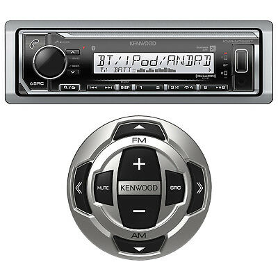 Kenwood KMR-M315BT Marine Yacht USB MP3 Bluetooth Stereo + Marine Wired Remote