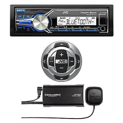 JVC Marine Bluetooth USB KDX33MBS Radio, JVC Wired Remote, Sirius XM Radio Tuner