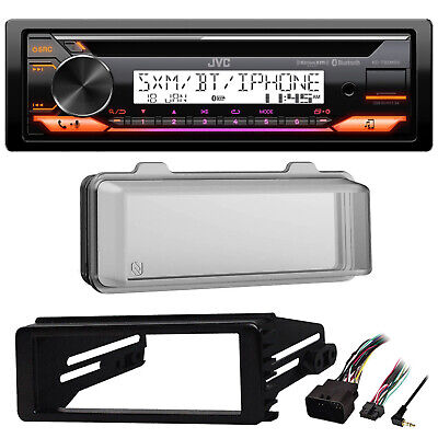 FLHX FLHTC 98-2013 Harley Install Kit,Bluetooth USB AUX Car Receiver,Radio Cover