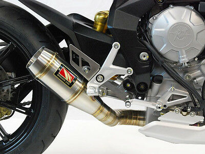 GP Slip On Exhaust Comp Werkes WMV800A for 2015 MV Agusta Brutale 800 Dragster