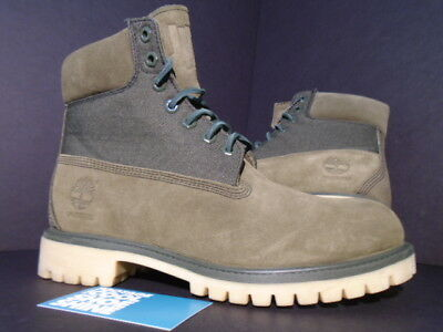 """Timberland 6"""" Inch Premium Boot Undefeated Undftd Olive Green Nubuck New 8"""