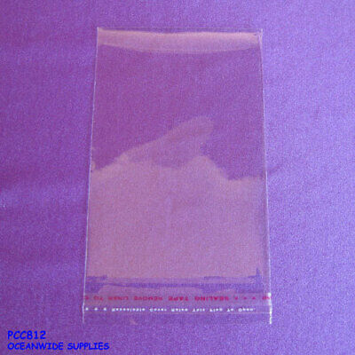 Reliable 200 Crystal Clear Cello Cellophane Adhesive Bag-8x12cm | AUSSIE Seller