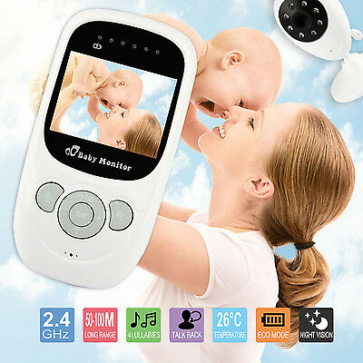 "2.4""Digital Video Baby Monitor Wireless 2 way Talk Safety Night Vision Viewer UK"