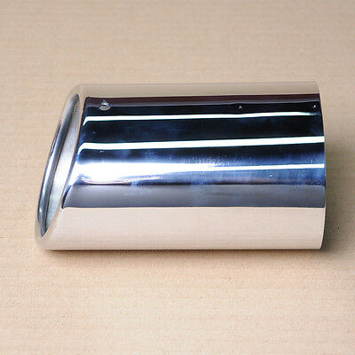 WOO Universal Car Oval Stainless Steel Exhaust Muffler Tail Pipe Tip Inlet 72mm
