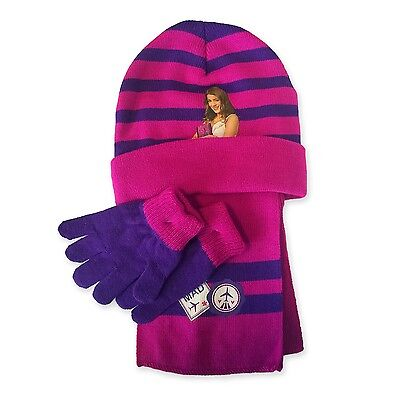 VIOLETTA Set Inverno Berretto SCIARPA GUANTI DISNEY HAT GLOVES Scarf Winter NEW