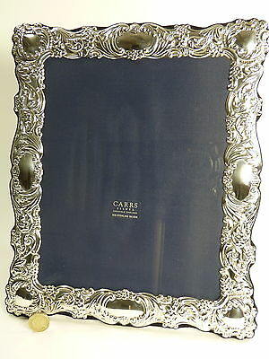 """Vintage Sterling Silver - CARRS Photo / Picture FRAME - 10"""" x 8"""" - SF28"""